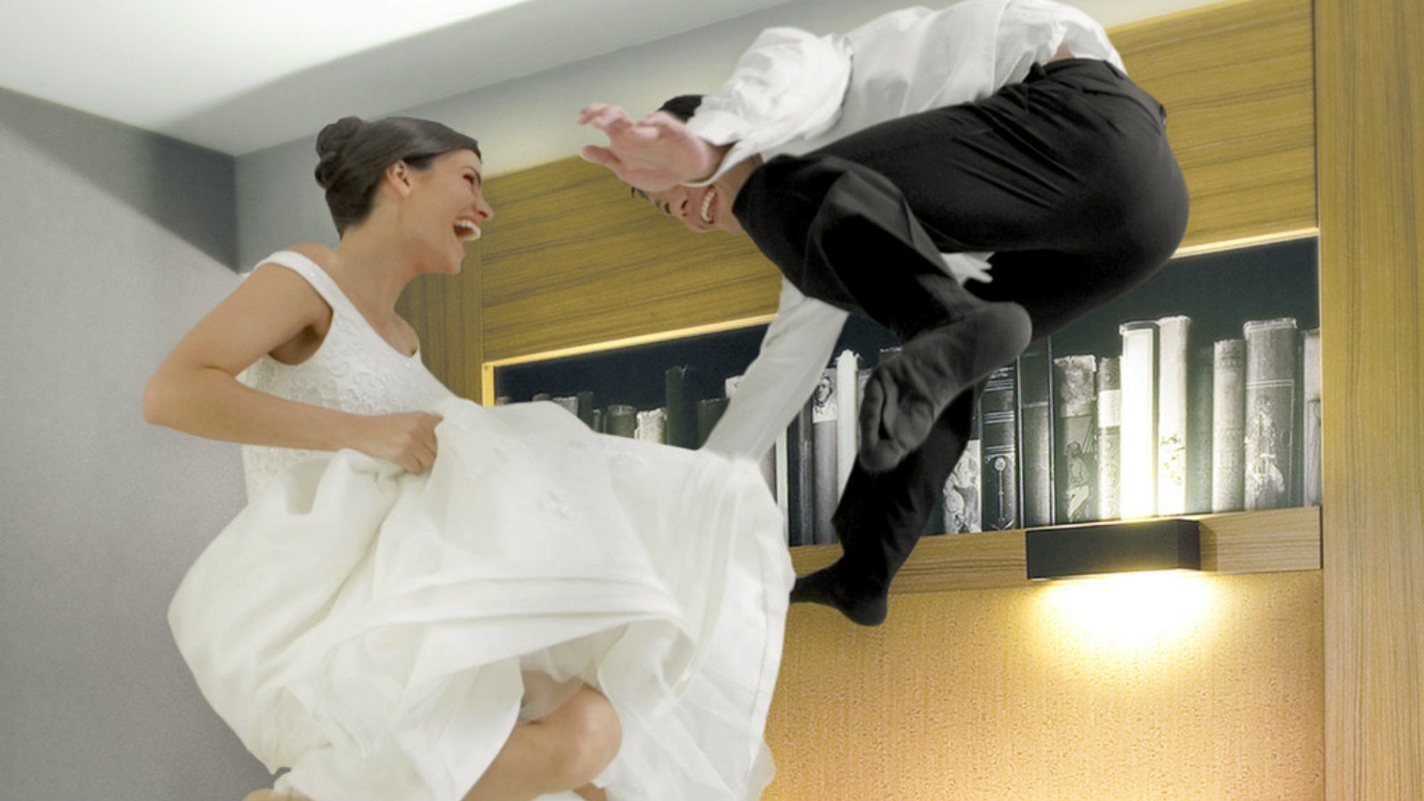 Wedding Venues in Miami - Couple Jumping